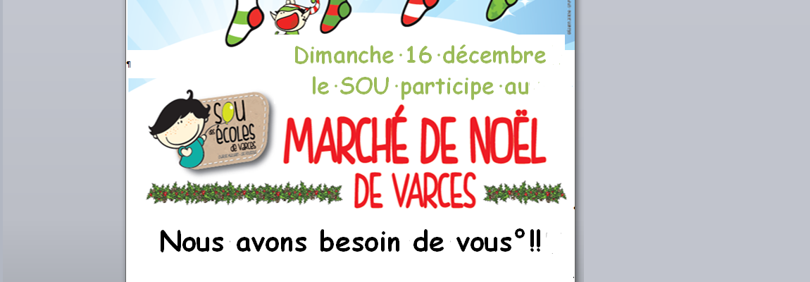 Le sou des écoles tiendra la buvette du marché de Noël le 16 décembre